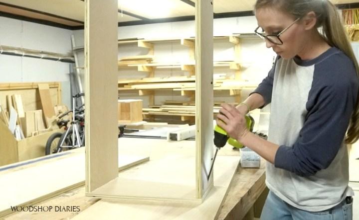Using pocket holes to assemble box