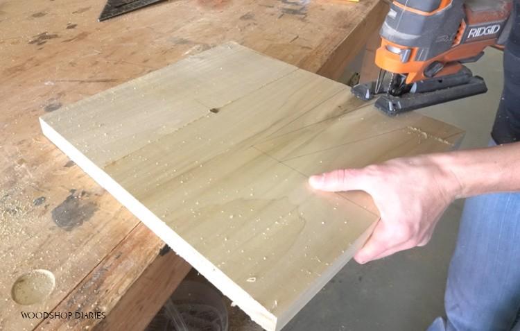 Cutting modern leg designs out using jig saw
