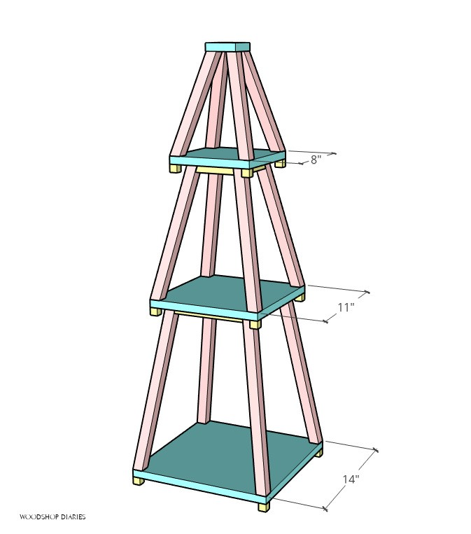 Christmas tree bottom panel measurement diagram