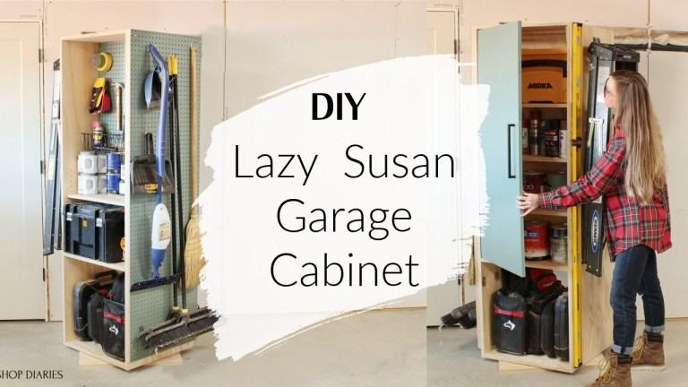 Collage image lazy susan garage cabinet