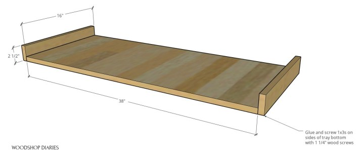 Keyboard stand tray dimensions