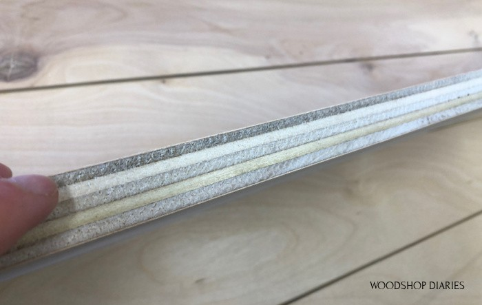 exposed plywood edges