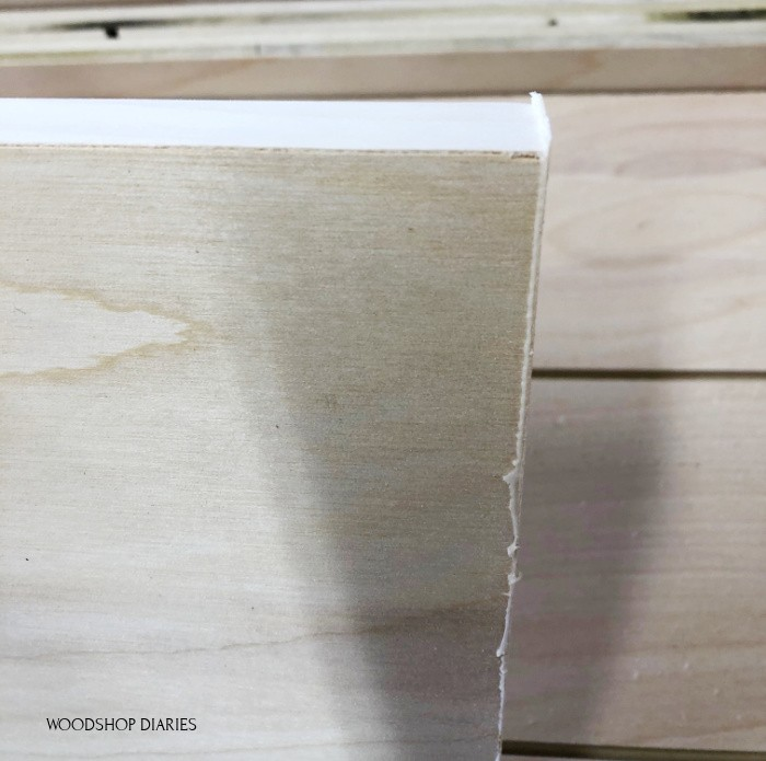 Glue squeeze out and rough edges on plywood edge banding