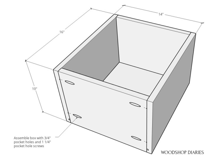 Overall drawer dimensions