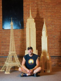 Armchair Traveler Constructs Toothpick World - Woodshop