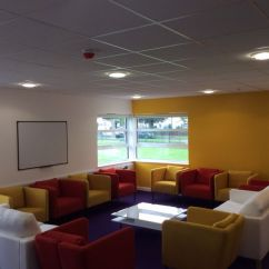 Kitchen Breakfast Bar Stools Commercial Aid Mixer Staff Room Refurbishment   Woodside Contract Services Limited