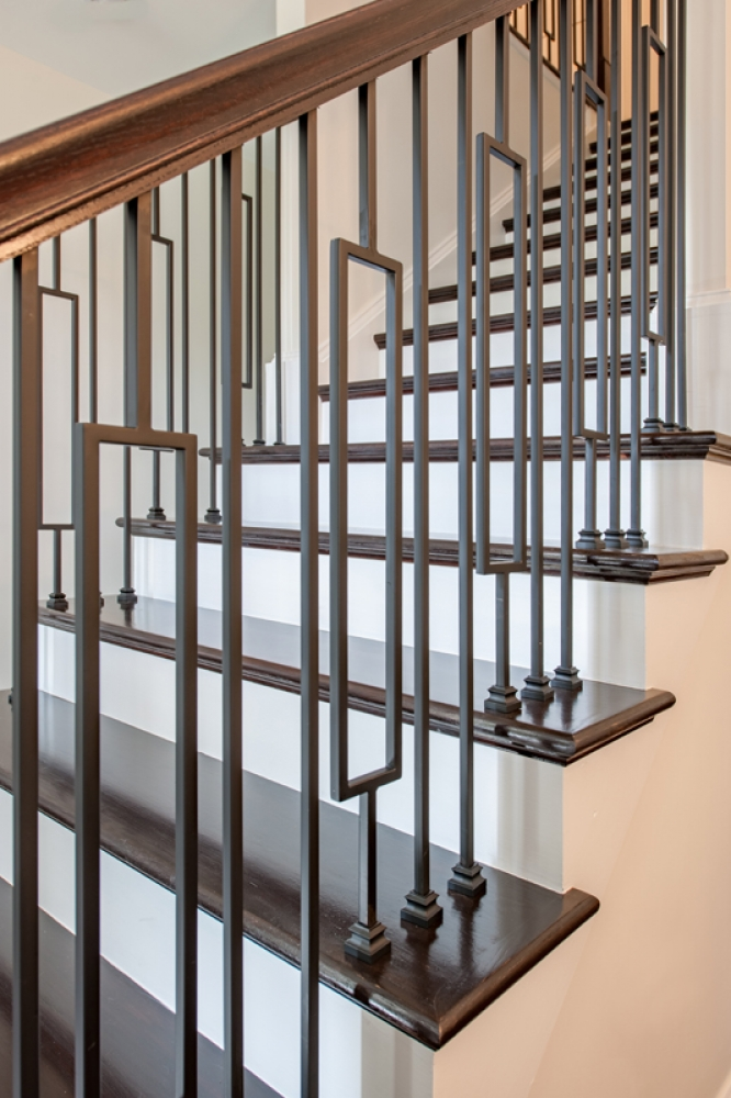 Lih Holpla44 Plain Bar Baluster Wood Stair Hollow Iron