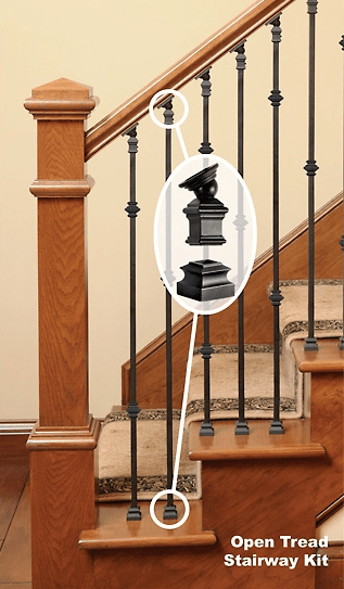 How To Install Iron Balusters Installing Metal Spindles Part 3   Installing Wrought Iron Balusters   Wood   Stair Balusters   Railing   Stair Parts   Iron Stair Spindles