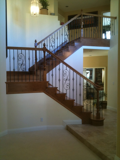skirtboard for wood stairs