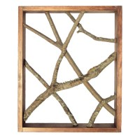 Rustic Wall Art Decor With Framed Tree Branches