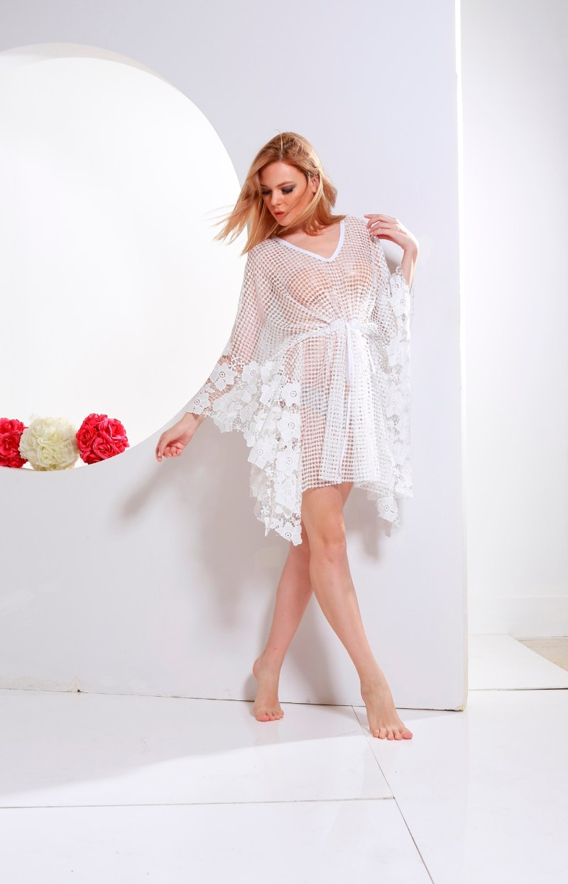 short white caftan