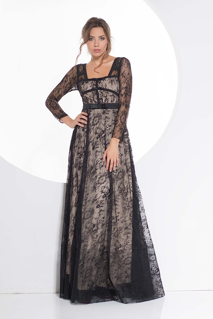 Lace covered dress