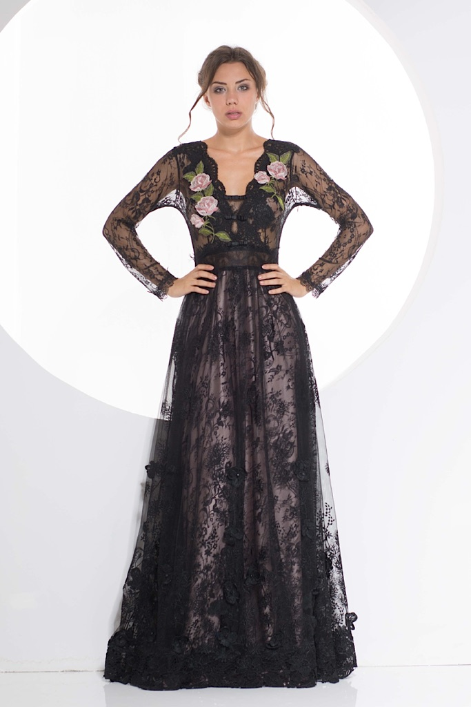 Guipure Dress and black lace