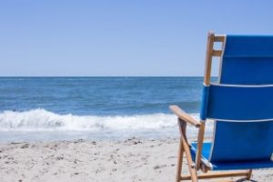 chair in seashore