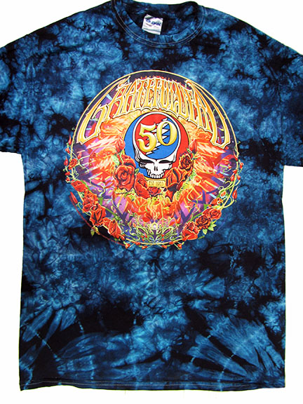 Grateful Dead 50th Anniversary Tie Dye Shirt Woodstock Trading Company