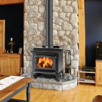 Hearth pad, Wood stoves and River rocks on Pinterest