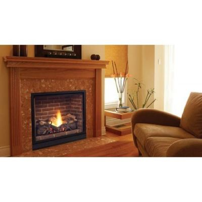 Majestic 36 Solitaire Top Direct Vent Clean Face Fireplace