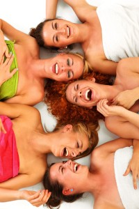 Image of girls at a spa party at Woodstown Massage Boutique