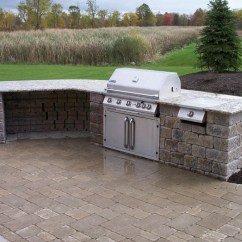 Grill For Outdoor Kitchen Antique White Cabinets Kitchens Landscaping Services Woodstream Nurseries Gallery