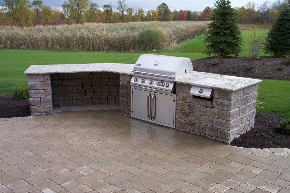 grill for outdoor kitchen small lighting ideas kitchens landscaping services woodstream nurseries gallery