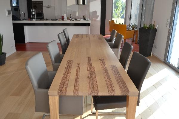 Op maat gemaakte tafel van Zebrano hout  woodtob