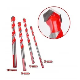 set of 4 glass tile mirror and metal drill bits 5 6 8 10 mm