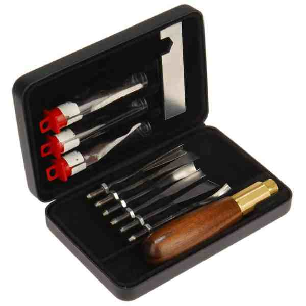 Razor Edge Combi Gouge Carving Kit - 10 Piece Wood Carving Gift Set