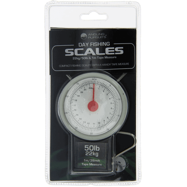 Angling Pursuits Day Scales - 22kg / 50lb with Tape Measure