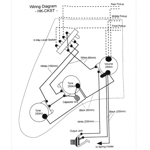 small resolution of wiring kit for strat type guitars with diagram dm50 strat wiring