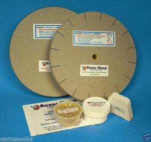 Plywood sharpening system using mdf sharpening wheels
