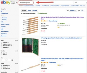 Find Woodturning Tools and Equipment on Ebay