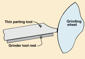 how to sharpen a wood turning parting tool