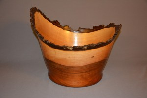 natural edge bowl woodturning by phil