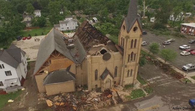 First Baptist Church Portland tornado damage 062215_104412