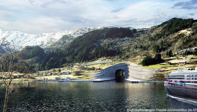 Norway Ship Tunnel AP_318425