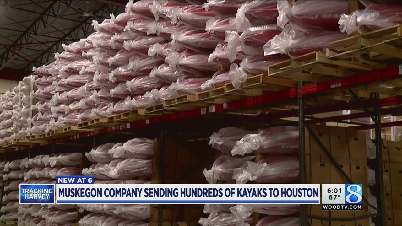 Muskegon-made kayaks will aid in Harvey relief