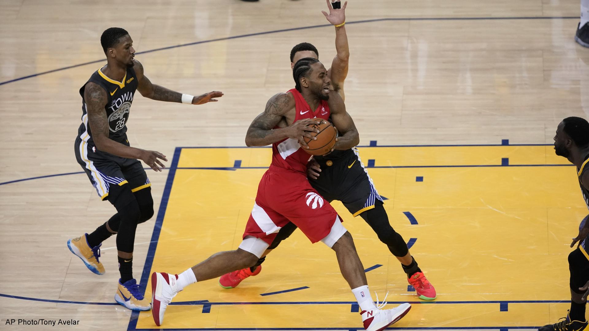 Toronto Raptors versus Golden State Warriors in the NBA finals
