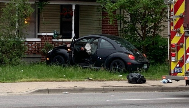 Car crashes into GR house 060619 1_1559820770235.jpg.jpg