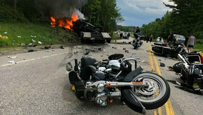 Scene of Randolph New Hampshire crash