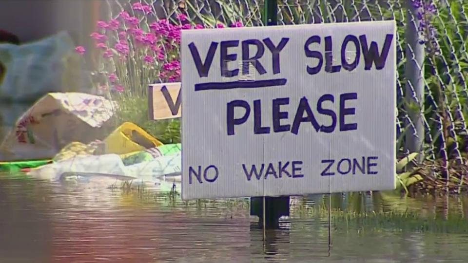 Flooding around Muskegon Lake