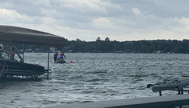 A photo of when dive teams were searching for missing man in Green Lake. (July 20, 2019)