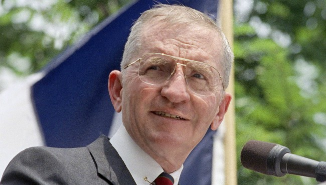H. Ross Perot at podium
