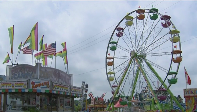 A photo of the Ionia Free Fair on July 19, 2019.
