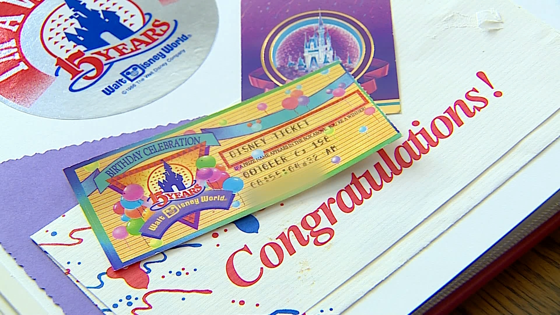 A photo of the free pass the Stellema Family won in 1986. (Aug. 20, 2019)