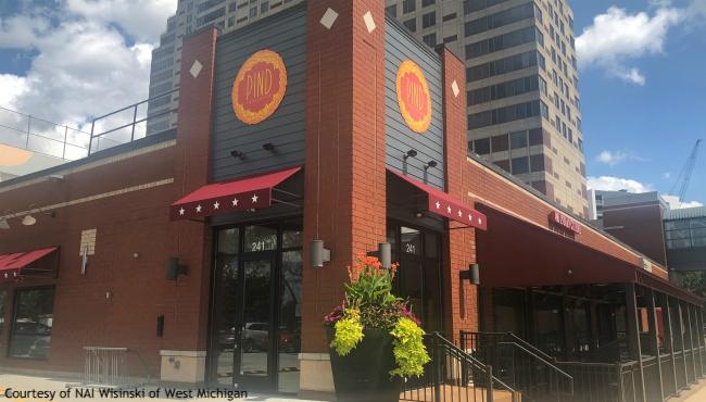A photo of Pind Indian Cuisine 241 Fulton Street in Grand Rapids. (Courtesy of NAI Wisinski of West Michigan)