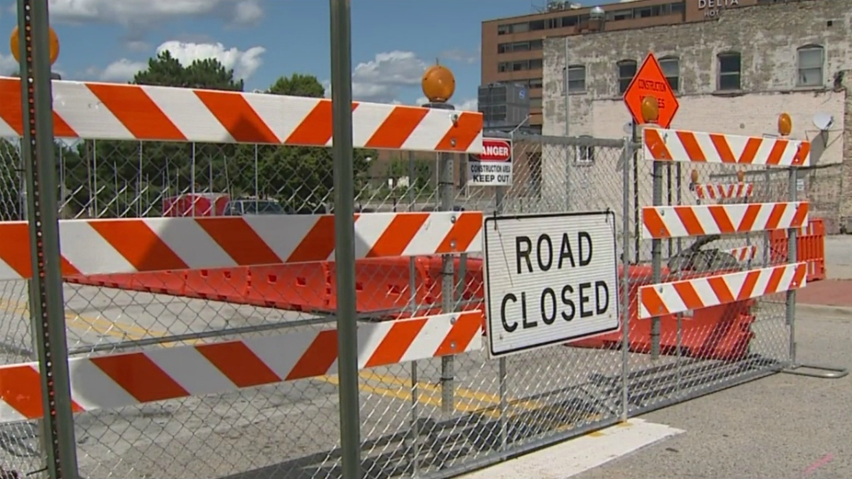 muskegon convention center road closure