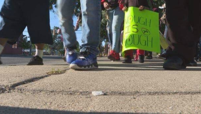 A photo of the Stop the Violence march in Grand Rapids. (Aug. 24, 2019)