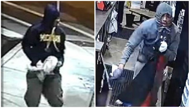 Surveillance photos of two suspects in connection to a burglary at the Creston Market in Grand Rapids Monday, Sept. 23, 2019.