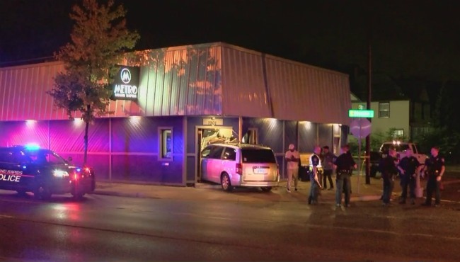 A car crashed into a bar in Grand Rapids Monday, Sept. 23, 2019.