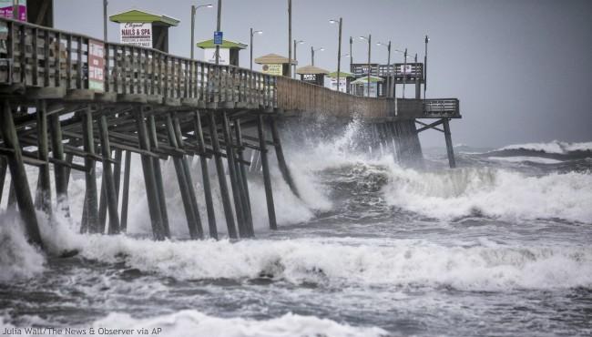 Weakened Dorian strands people on North Carolina island